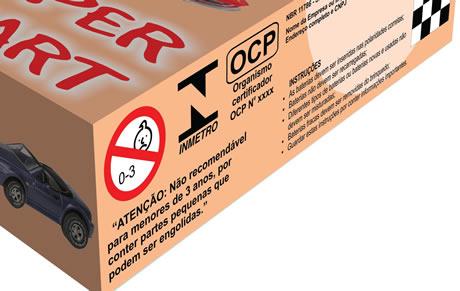 Embalagem com selo do Inmetro