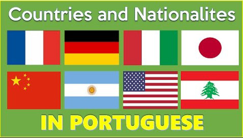 countries and nationalities in portuguese