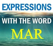 Portuguese Expressions With The Word MAR