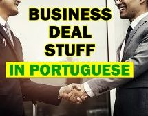 How to say business, deal and stuff in Portuguese